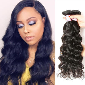 Indian Virgin Hair Weave 3 Bundles Natural Wave Hair