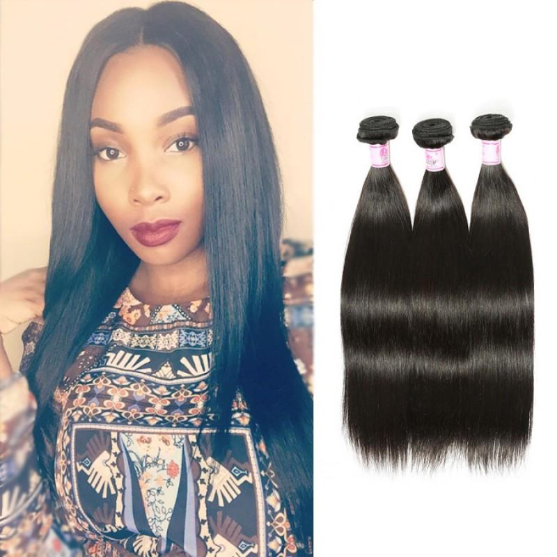 Indian Virgin Hair Weave 3 Bundles Straight Hair