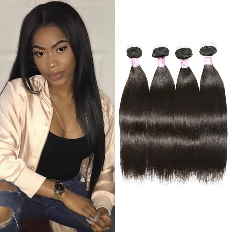 Indian Virgin Hair Weave 4 Bundles Straight Hair