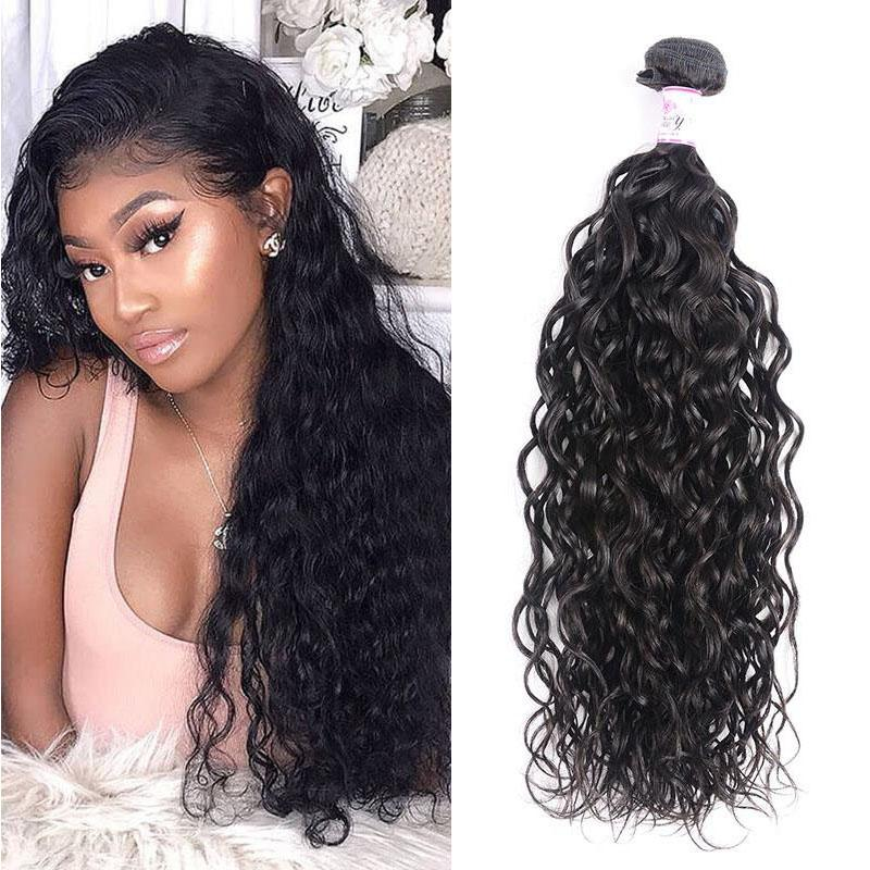 Indian Virgin Hair Weave Bundles Water Wave Hair