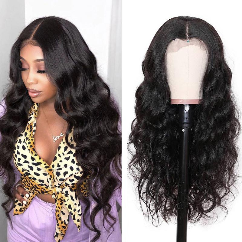 Human Hair Wigs Body Wave Lace Closure Wigs