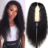 Human Hair Wigs Curly Lace Closure Wigs Pre-Plucked Hairline with Baby Hair