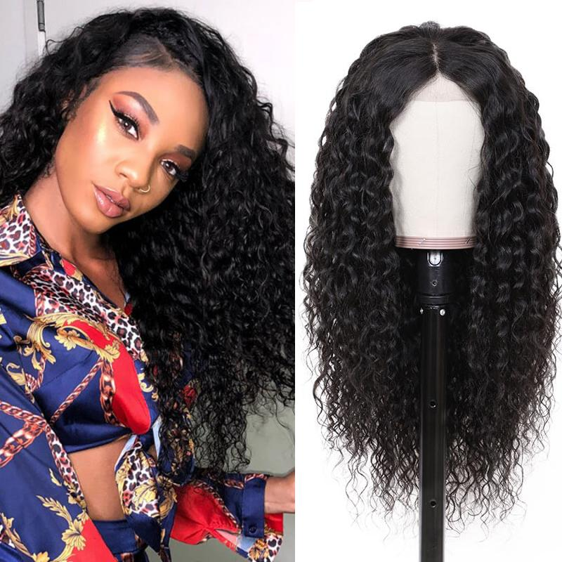 Human Hair Wigs Kinky Curly Lace Closure Wigs