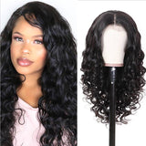 Human Hair Wigs Natural Wave Lace Closure Wigs Pre-Plucked Hairline with Baby Hair