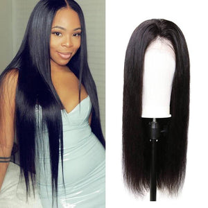 Human Hair Wigs Straight Lace Closure Wigs
