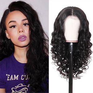 Human Hair Wigs Natural Wave Lace Front Wigs