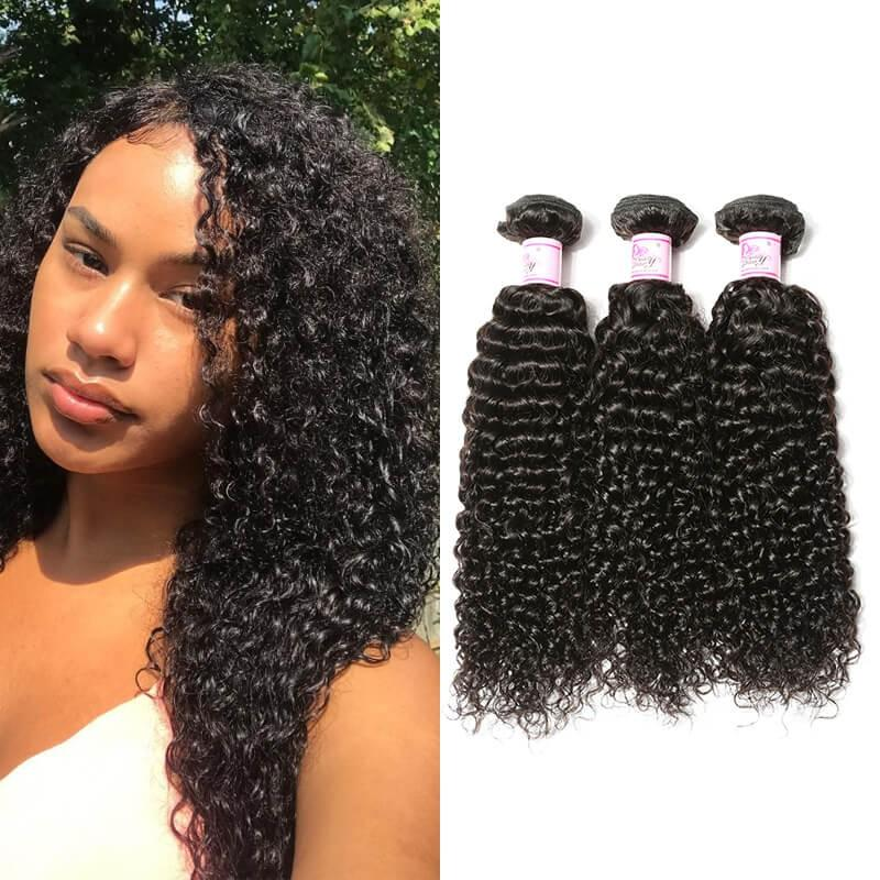 Malaysian Virgin Hair Weave 3 Bundles Curly Hair