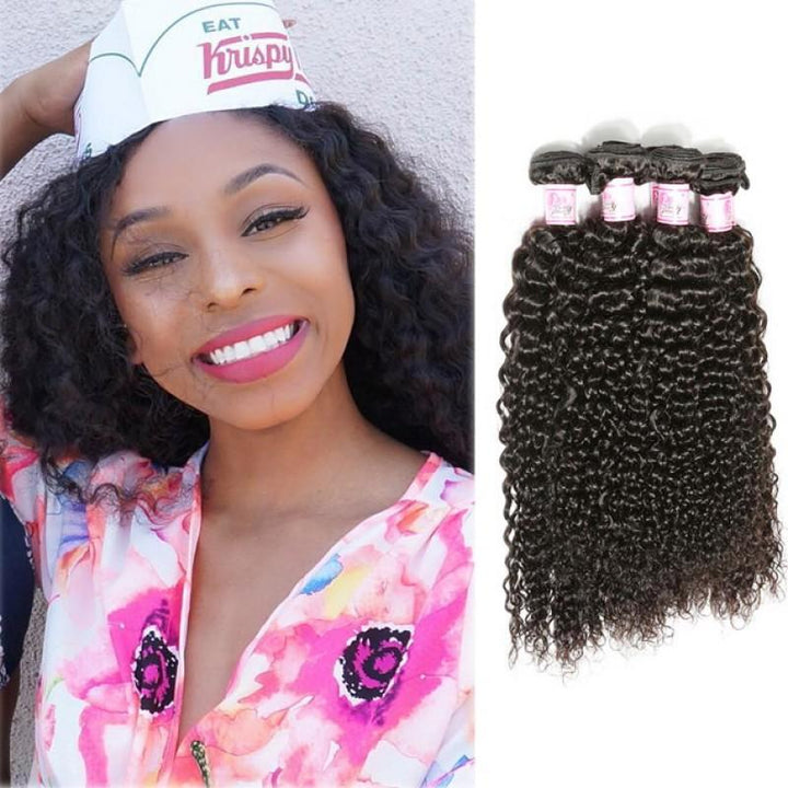 Malaysian Virgin Hair Weave 4 Bundles Curly Hair