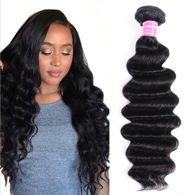 Malaysian Virgin Hair Weave Bundles Loose Deep Hair