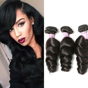 Malaysian Virgin Hair Weave 3 Bundles Loose Wave Hair
