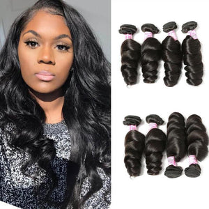 Malaysian Virgin Hair Weave 4 Bundles Loose Wave Hair