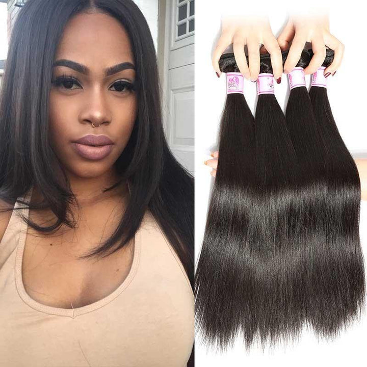 Malaysian Virgin Hair Weave 4 Bundles Straight Hair