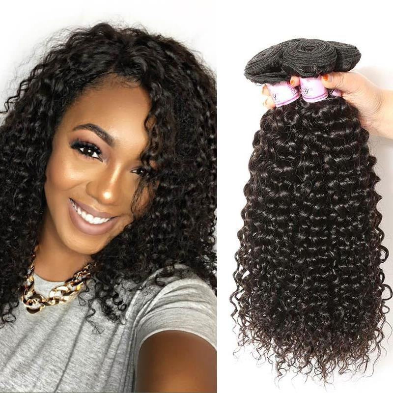 Peruvian Virgin Hair Weave 4 Bundles Curly Hair
