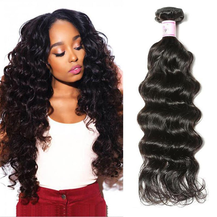 Peruvian Virgin Hair Weave Bundles Deep Wave Hair