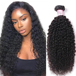 Peruvian Virgin Hair Weave Bundles Kinky Curly Hair