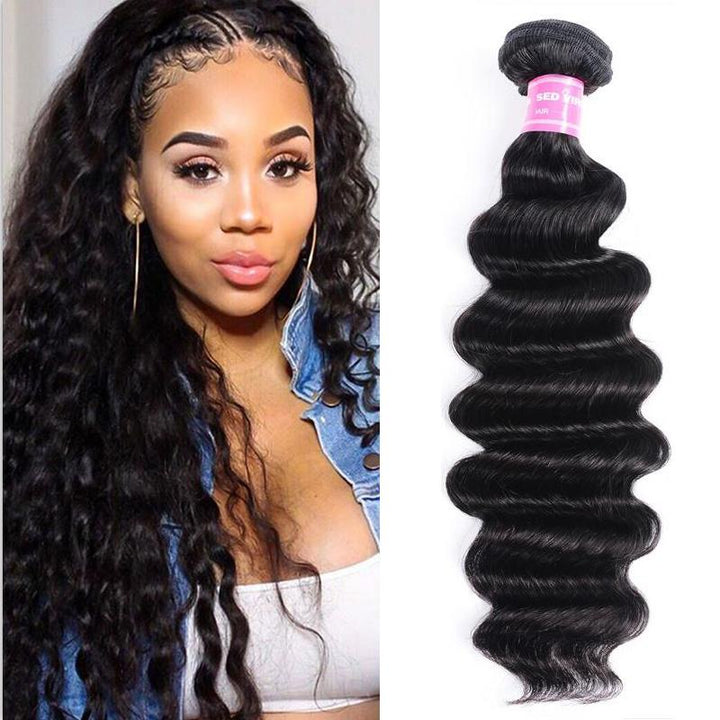 Peruvian Virgin Hair Weave Bundles Loose Deep Hair