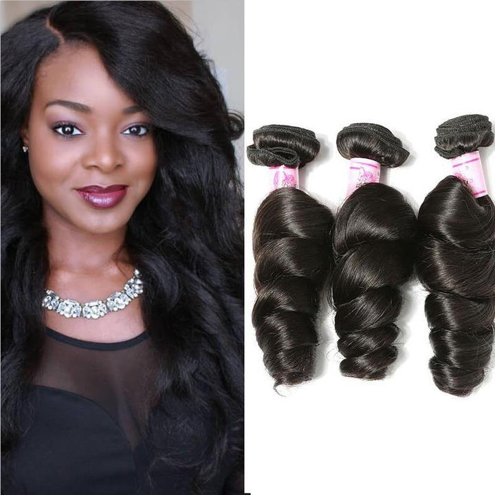 Peruvian Virgin Hair Weave 3 Bundles Loose Wave Hair