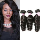 Peruvian Virgin Hair Weave 3 Bundles Loose Wave Hair 100% Human Hair