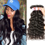 Peruvian Virgin Hair Weave 3 Bundles Natural Wave Hair