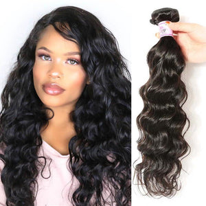 Peruvian Virgin Hair Weave Bundles Natural Wave Hair