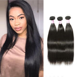 Peruvian Virgin Hair Weave 3 Bundles Straight Hair