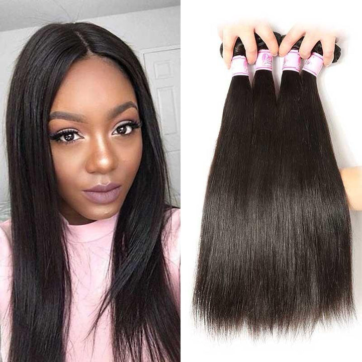 Peruvian Virgin Hair Weave 4 Bundles Straight Hair
