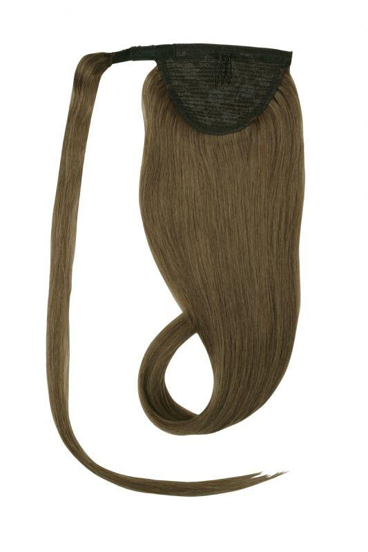 Clip In Ponytail Human Remy Hair Extensions (#8 Ash Brown)