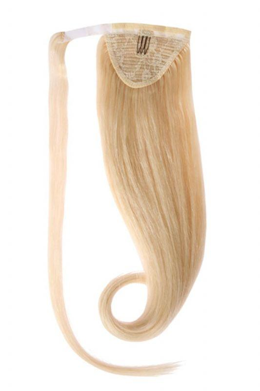 Clip In Ponytail Human Remy Hair Extensions (#613 Bleach Blonde)