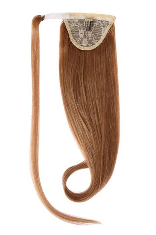 Clip In Ponytail Human Remy Hair Extensions (#12 Golden Brown)