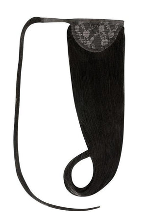 Clip In Ponytail Human Remy Hair Extensions (#1 Jet Black)