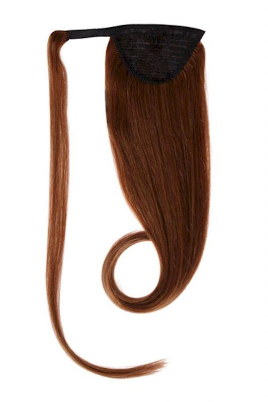 Clip In Ponytail Human Remy Hair Extensions (#6 Light Brown)