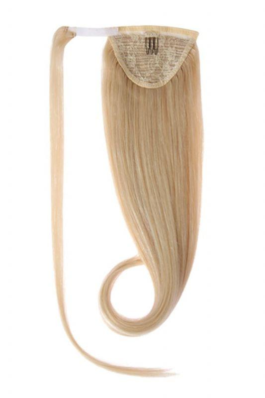 Clip In Ponytail Human Remy Hair Extensions (#24 Medium Blonde)