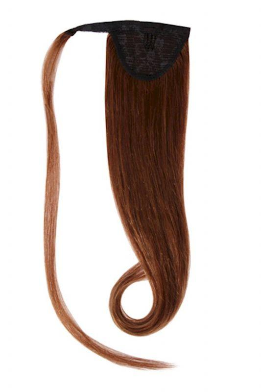 Clip In Ponytail Human Remy Hair Extensions (#4 Medium Brown)