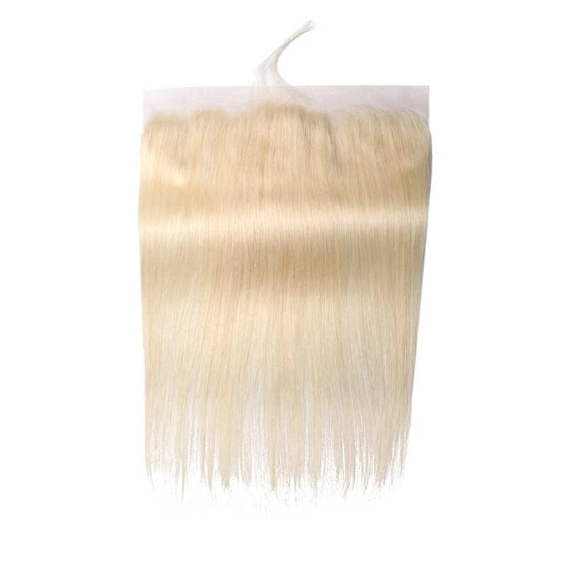 Virgin Hair Straight Lace Frontal with Baby Hair (#613 Bleach Blonde)