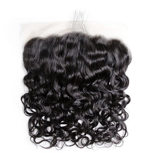 Virgin Hair Water Wave Transparent Lace Frontal with Baby Hair