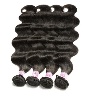 Indian Virgin Hair Weave 4 Bundles Body Wave Hair 100% Human Hair
