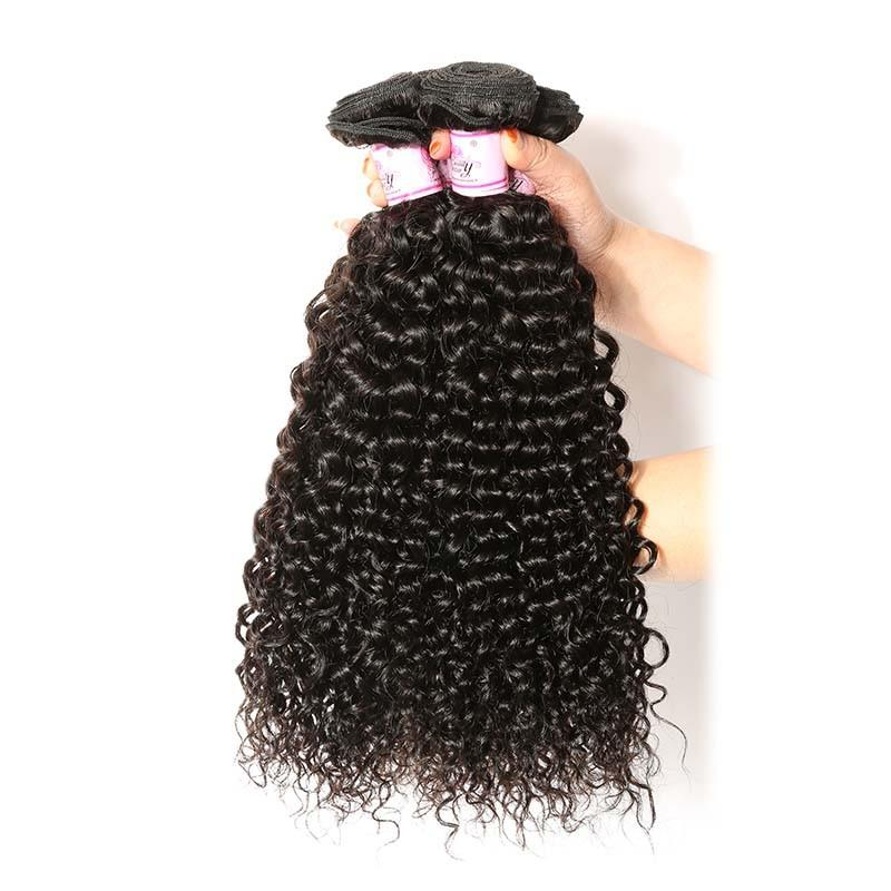 Indian Virgin Hair Weave 3 Bundles Curly Hair 100% Human Hair