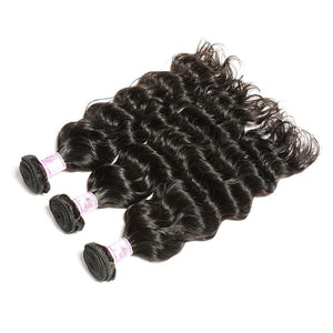 Peruvian Virgin Hair Weave 3 Bundles Deep Wave Hair