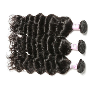 Malaysian Virgin Hair Weave 3 Bundles Deep Wave Hair 100% Human Hair