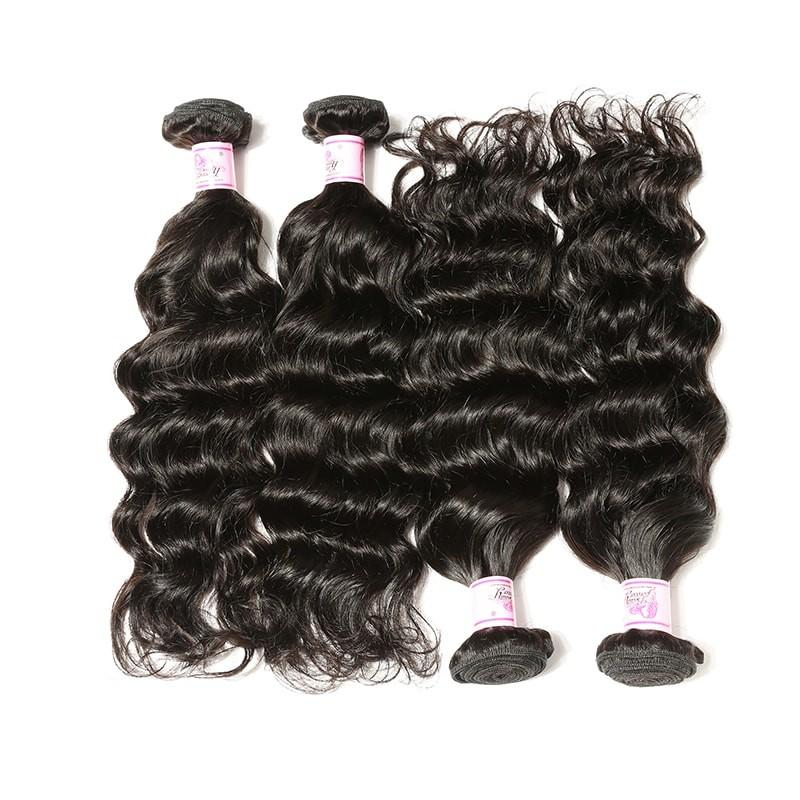 Indian Virgin Hair Weave 4 Bundles Deep Wave Hair