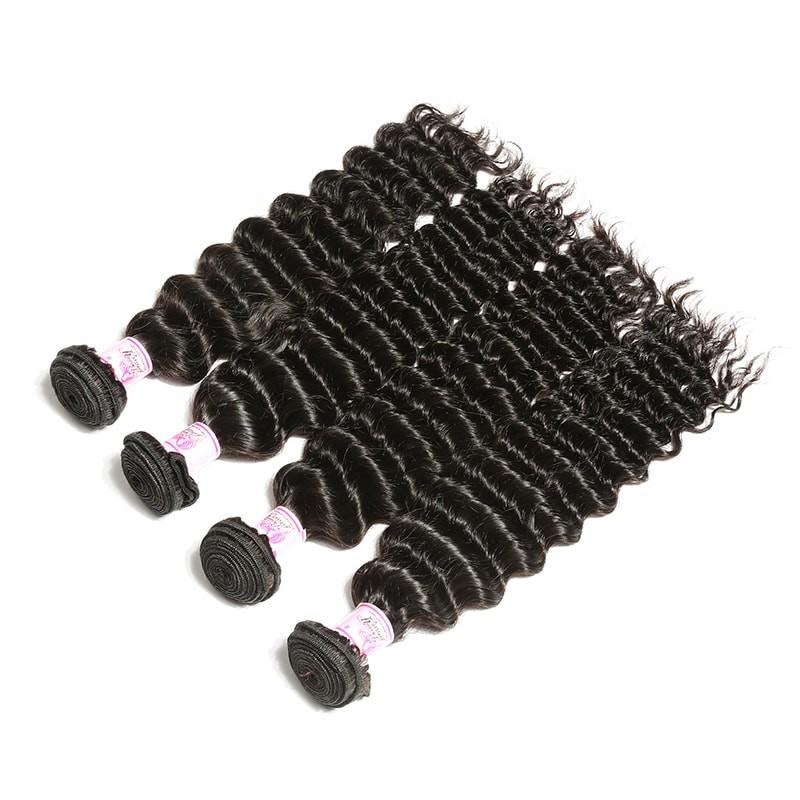 Malaysian Virgin Hair Weave 4 Bundles Deep Wave Hair