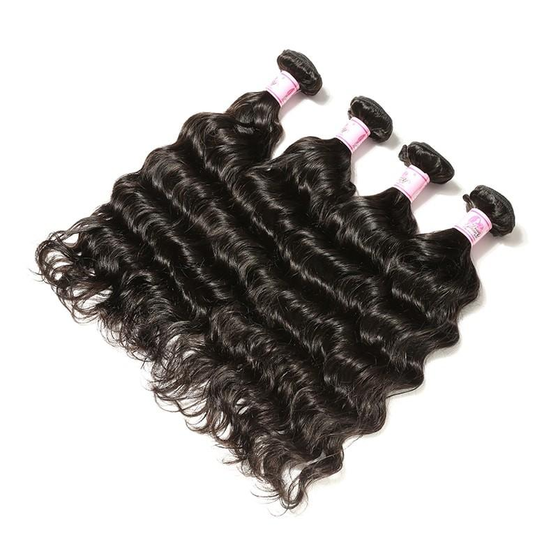 Peruvian Virgin Hair Weave 4 Bundles Deep Wave Hair