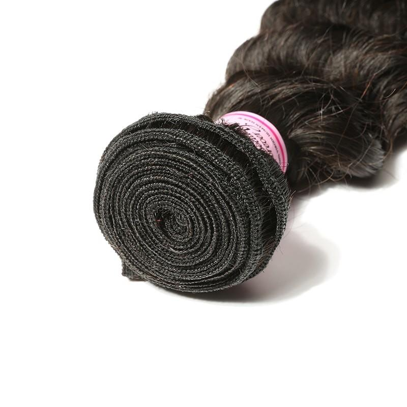 Indian Virgin Hair Weave Bundles Deep Wave Hair 100% Human Hair