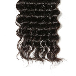 Malaysian Virgin Hair Weave Bundles Deep Wave Hair 100% Human Hair
