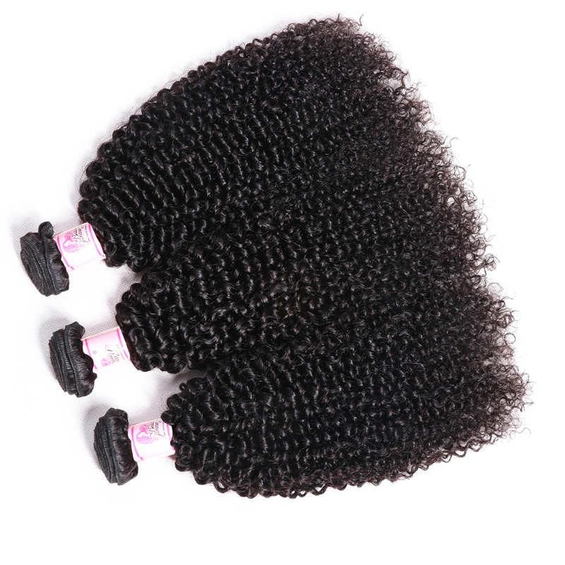 Malaysian Virgin Hair Weave 3 Bundles Kinky Curly Hair