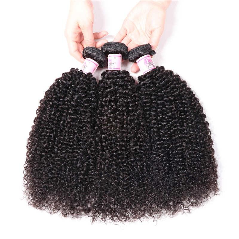 Peruvian Virgin Hair Weave 3 Bundles Kinky Curly Hair