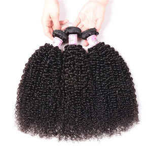 Brazilian Virgin Hair Weave 3 Bundles Kinky Curly Hair 100% Human Hair