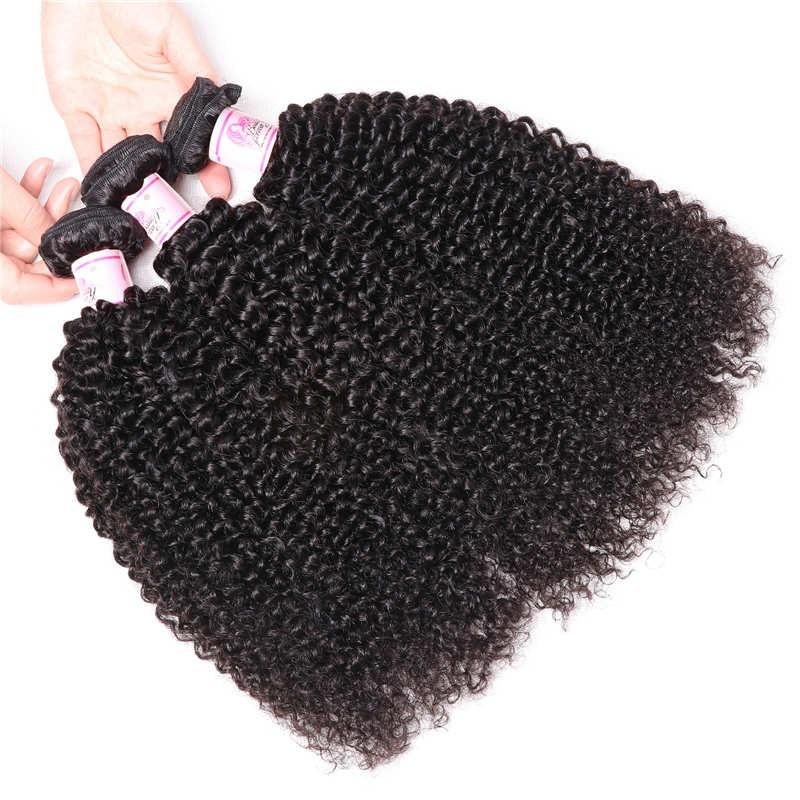 Indian Virgin Hair Weave 3 Bundles Kinky Curly Hair 100% Human Hair