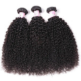 Peruvian Hair 3 Bundles with Lace Frontal Kinky Curly Hair 100% Human Hair