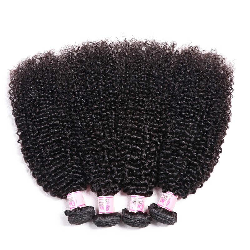 Indian Virgin Hair Weave 4 Bundles Kinky Curly Hair